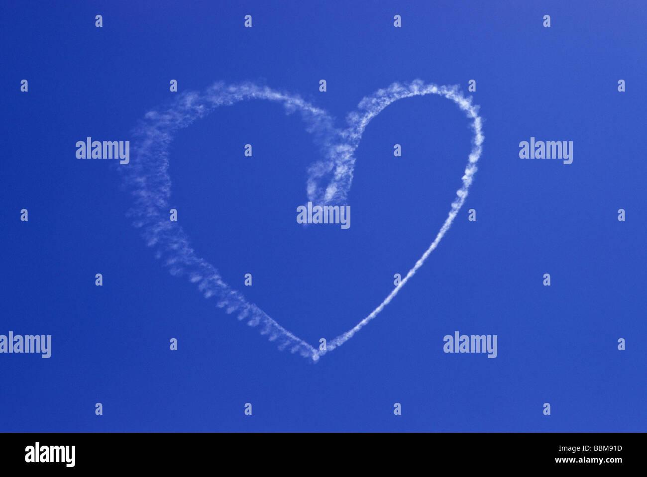Skywrite Heart Love Message Symbol Stock Photos Skywrite Heart