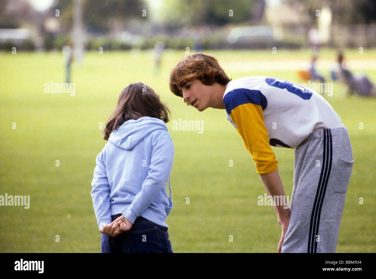 Teen Boy Brother Sister Support Encourage Talk Sibling Love Sport