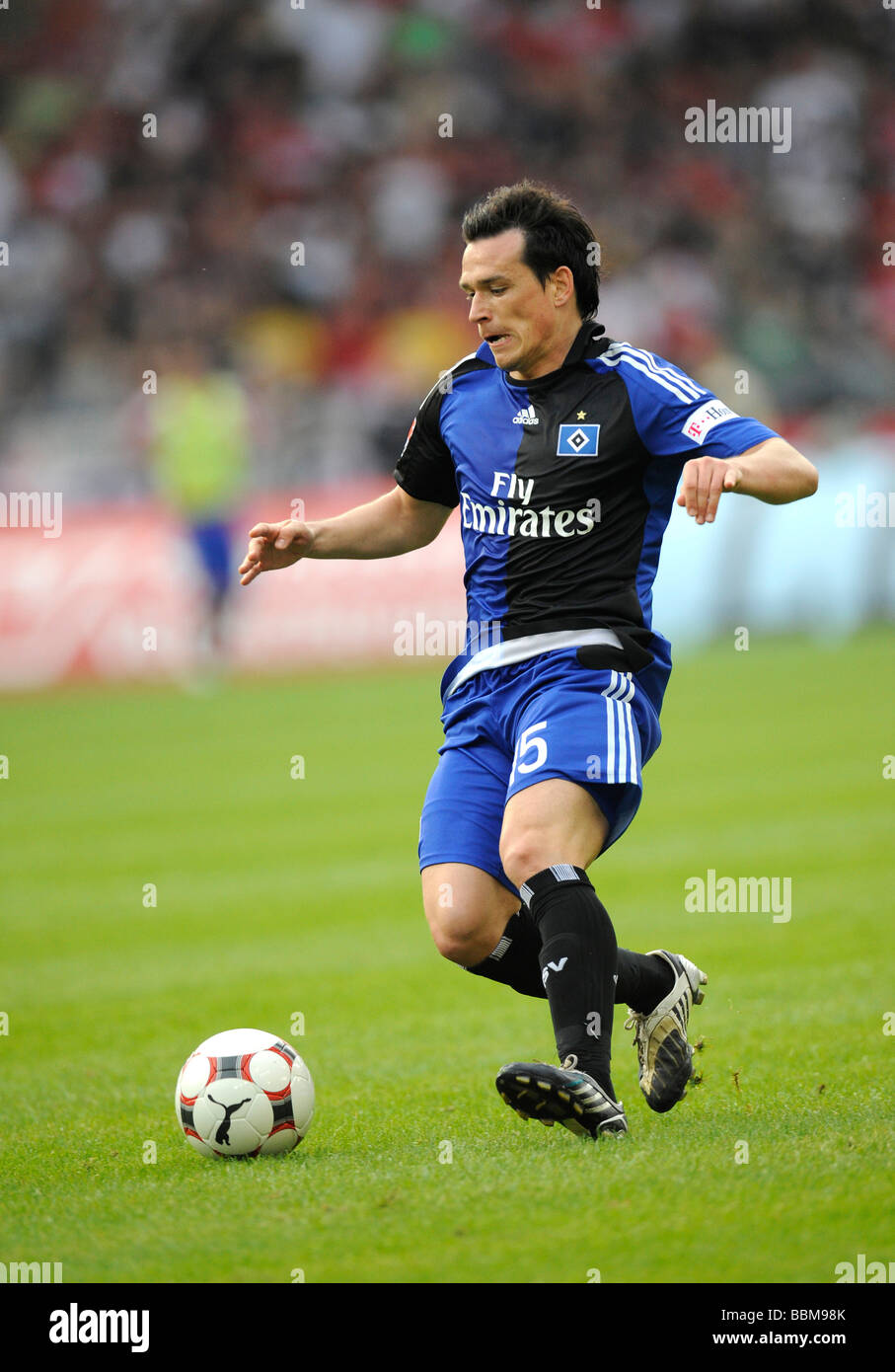 International Piotr Trochowski, German footballer playing for HSV, Hamburger SV, on the ball - Stock Image