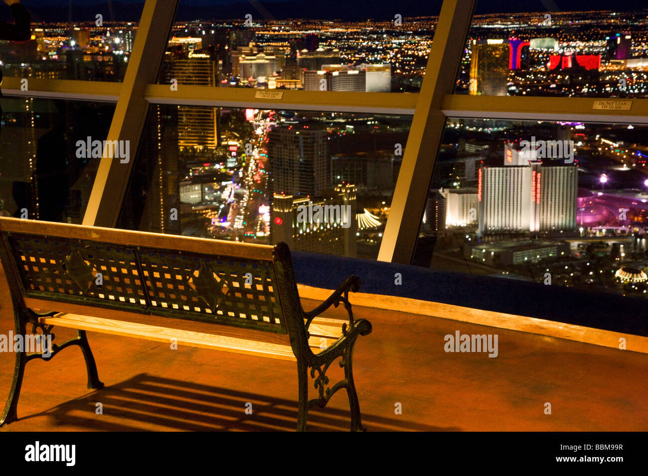 View of Las Vegas from the Stratosphere Las Vegas Nevada - Stock Image