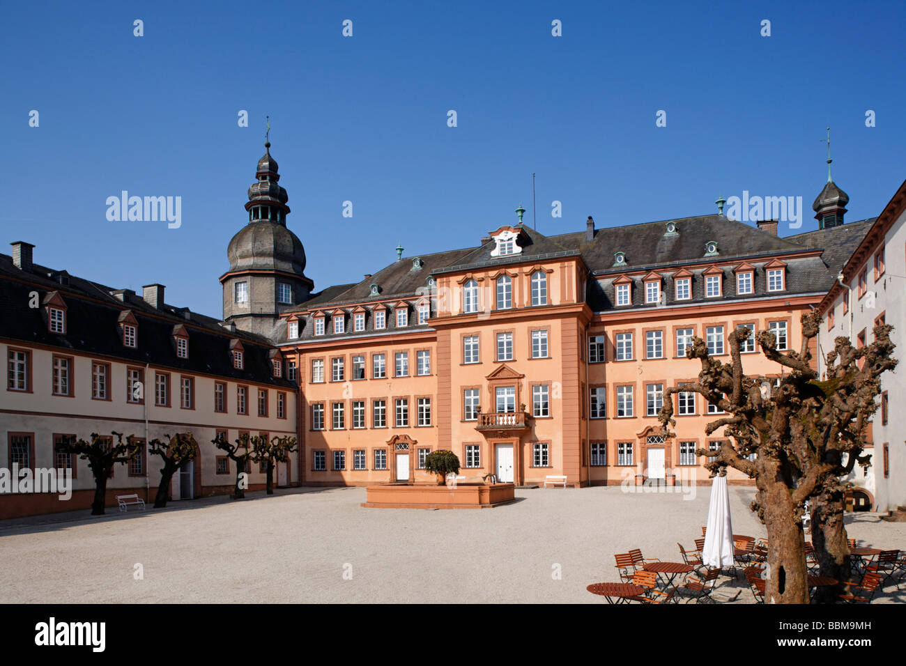 Castle Square and Berleburg Castle, Bad Berleburg, district of Stock ...