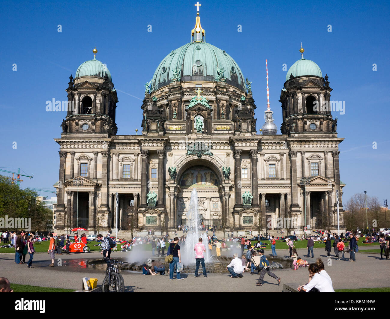Berlin Cathedral at the Lustgarten park, Berlin-Mitte, Germany, Europe Stock Photo