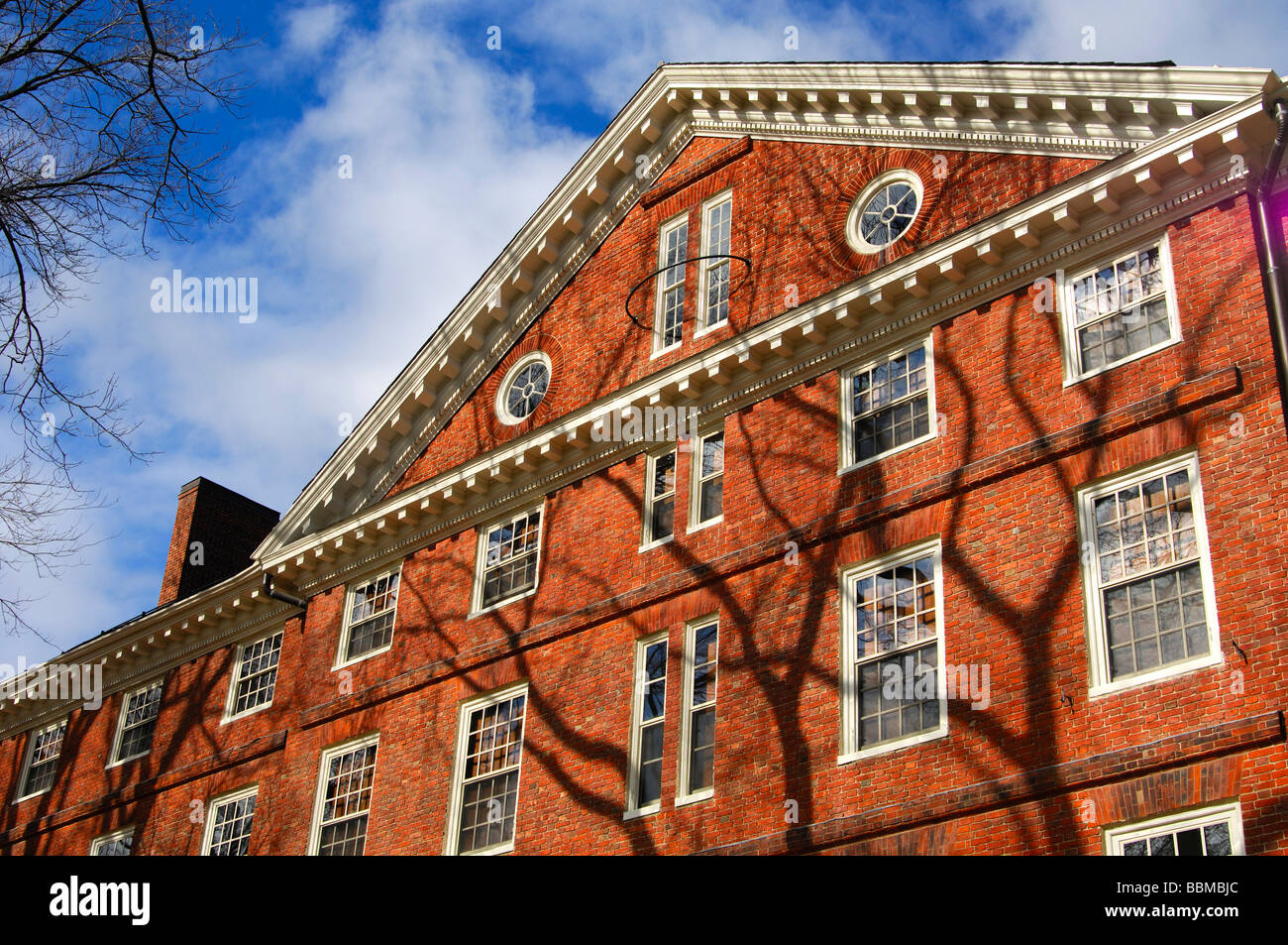 Student accommodation Hollis Hall, Harvard University, Cambridge, Massachusetts, USA - Stock Image