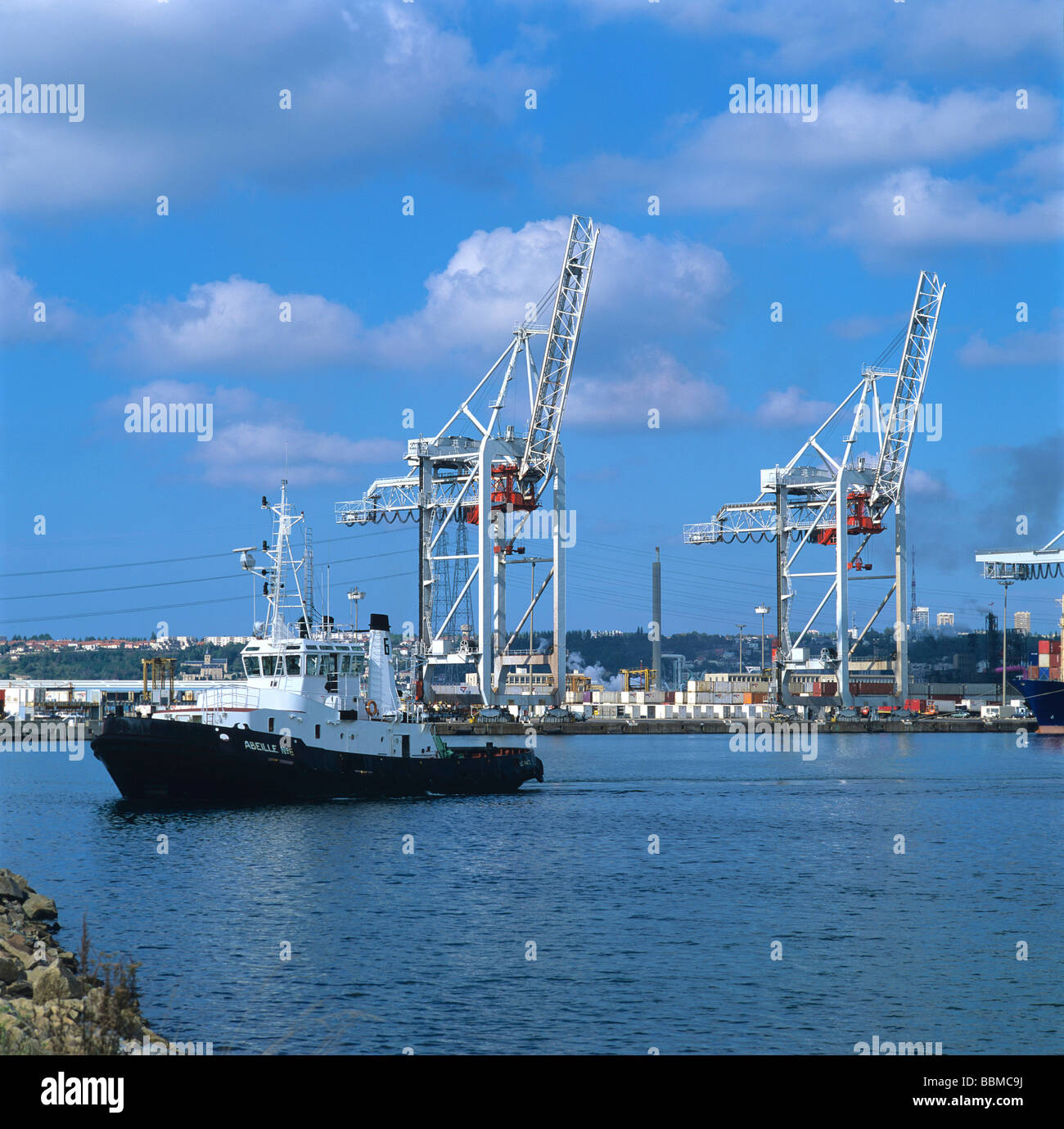 Port of Le Havre, Seine-Maritime, Normandy, France - Stock Image