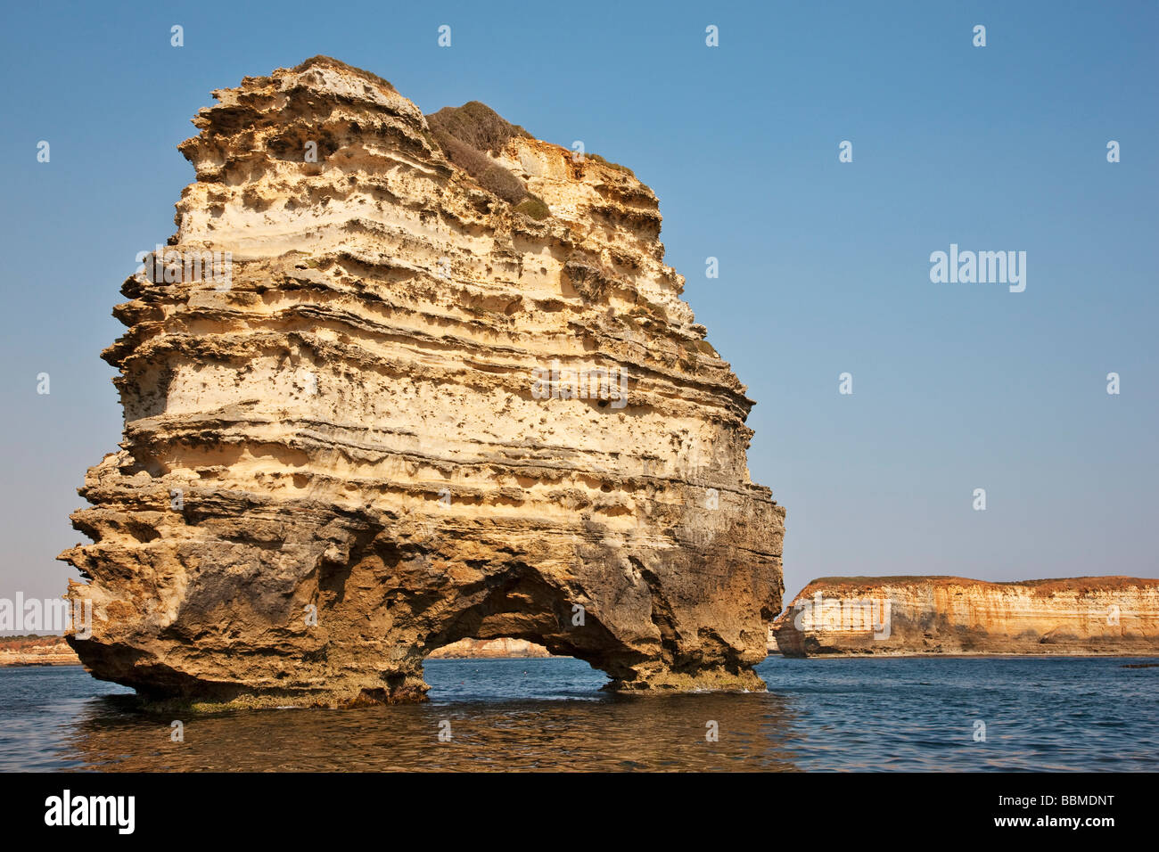 Australia, Victoria. Limestone stacks in the Bay of Islands, off the Great Ocean Road. - Stock Image