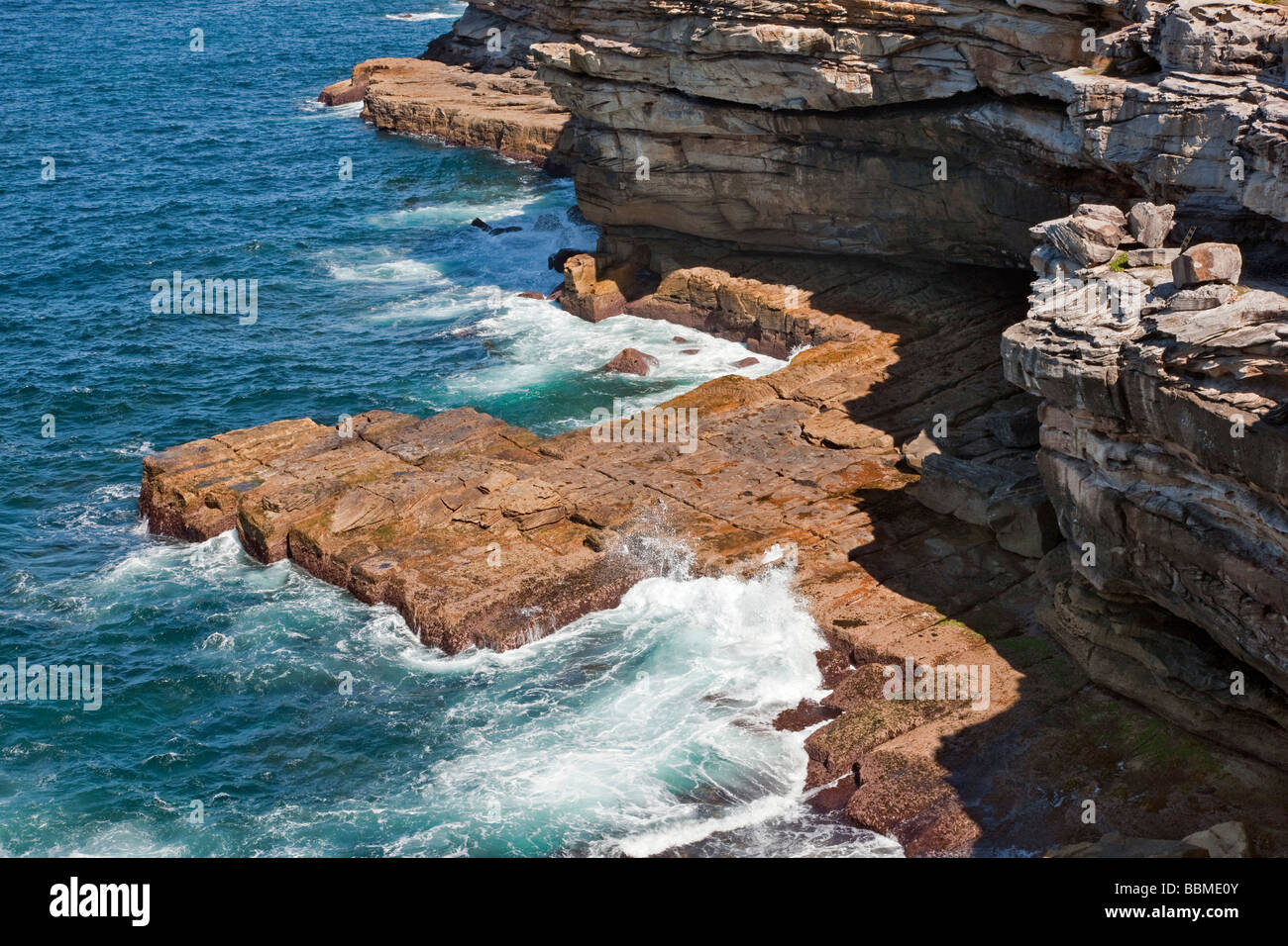 Australia New South Wales. The Gap at Watson  s Bay, Sydney Harbour. - Stock Image