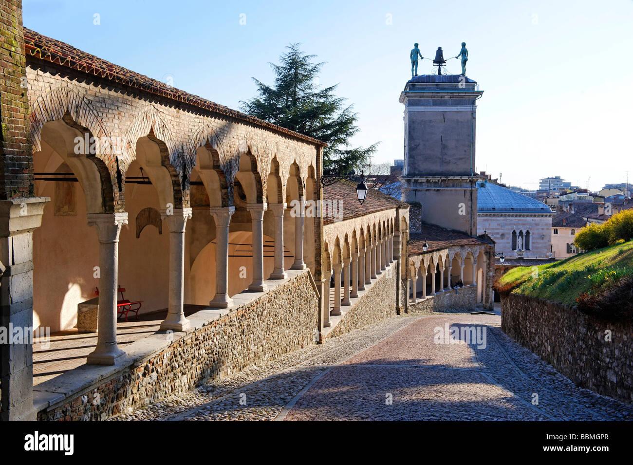 Way to the Castello from the Piazza Liberta, Udine, Friuli-Venezia Giulia, Italy, Europe - Stock Image