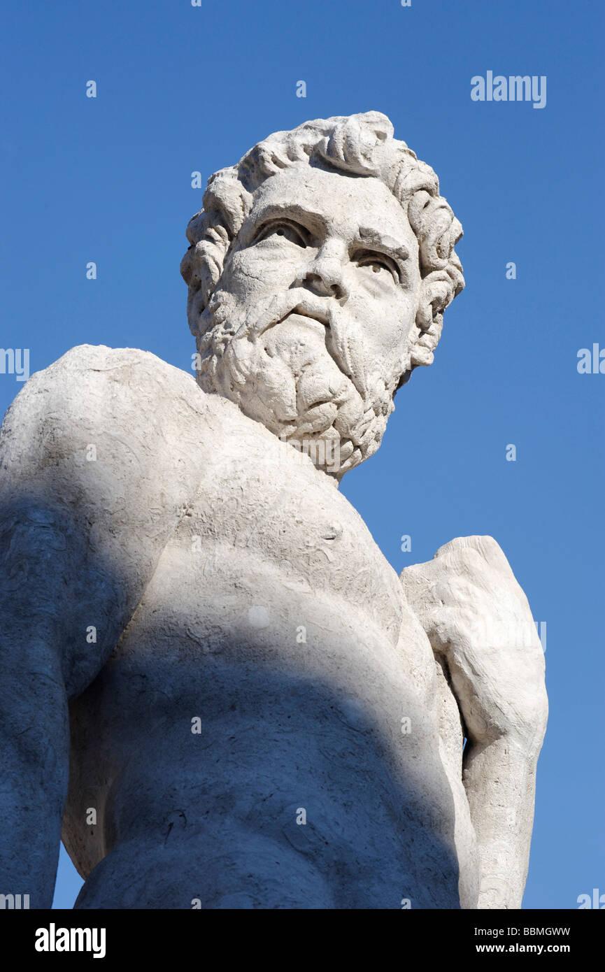 Heracles by Angelo de' Putti, Piazza Liberta, Udine, Friuli-Venezia Giulia, Italy, Europe - Stock Image