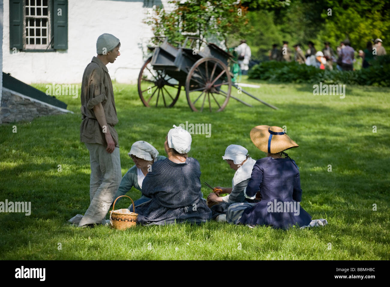 French and Indian War Reenactment at Mabee Farm Rotterdam Junction New York Mohawk Valley Schenectady County New - Stock Image
