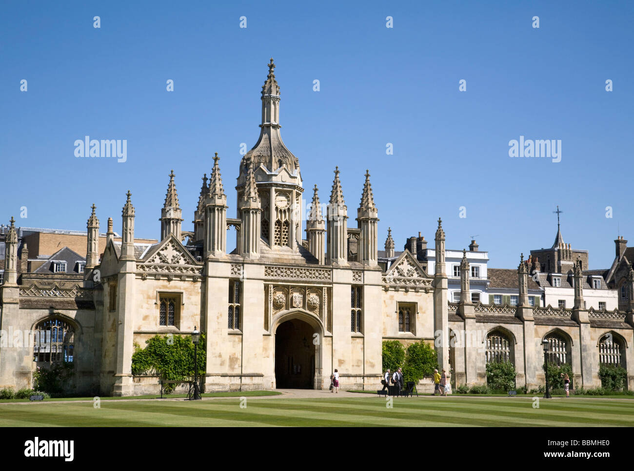 The entrance to Kings College, Cambridge UK - Stock Image