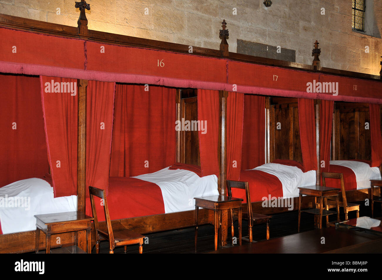 Hospices of Beaune, dormitory, Beaune, Cote d' Or, Burgundy, France, Europ - Stock Image