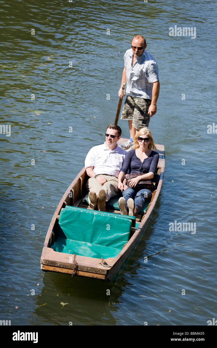 A punt on the River Cam, Cambridge, UK on a sunny summers day - Stock Image