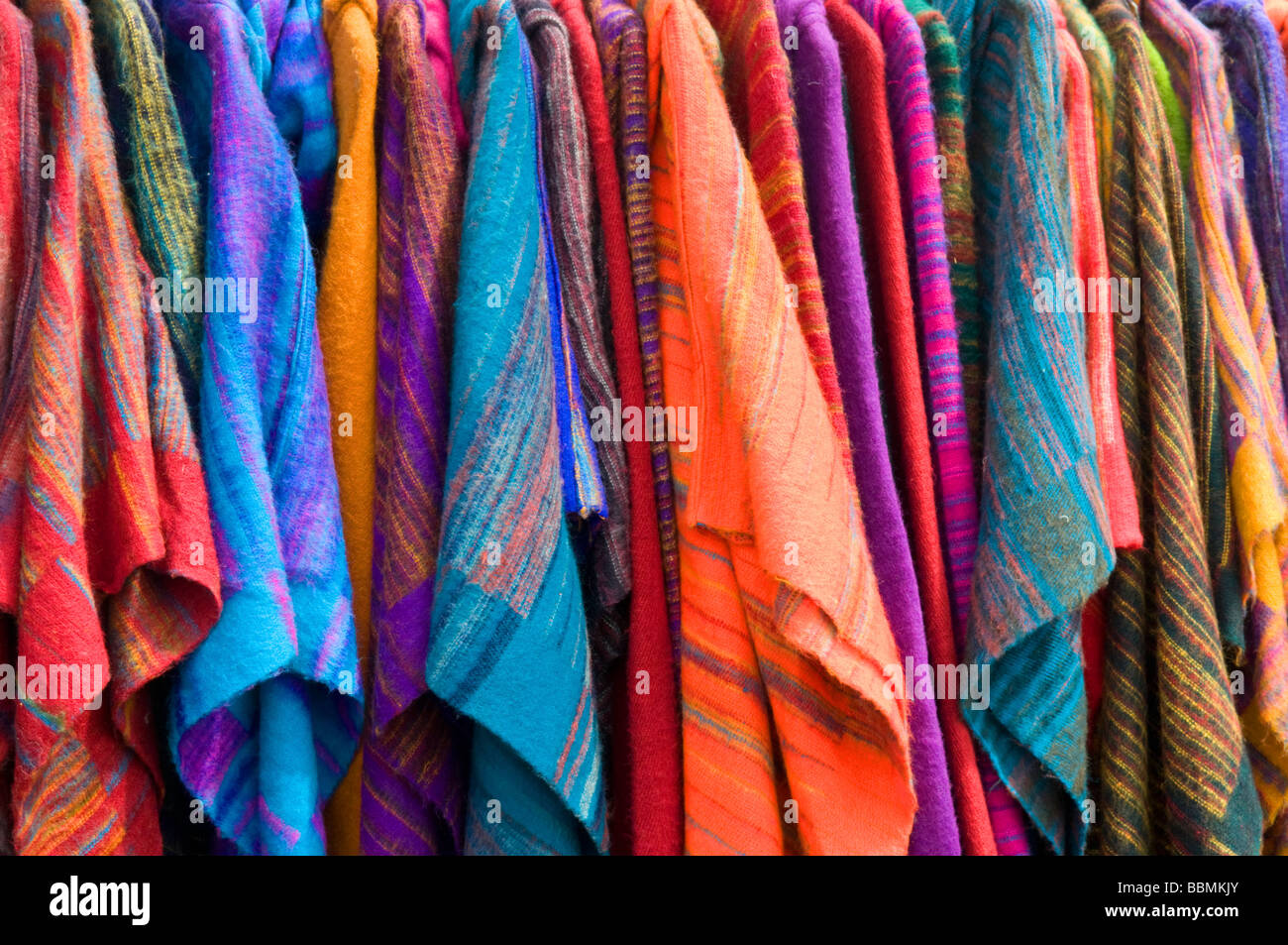 Stall selling Poncho's at the strawberry festival, Cambridge. - Stock Image