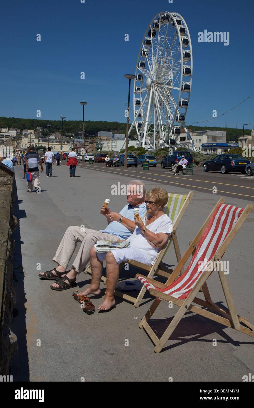 Weston Super Mare sea front - Stock Image