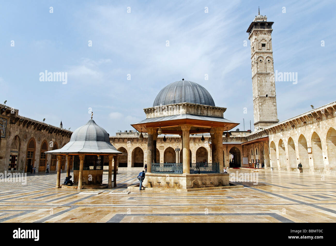Umayyad Mosque, Grand Mosque in the historic centre of Aleppo, Syria, Middle East, Asia Stock Photo