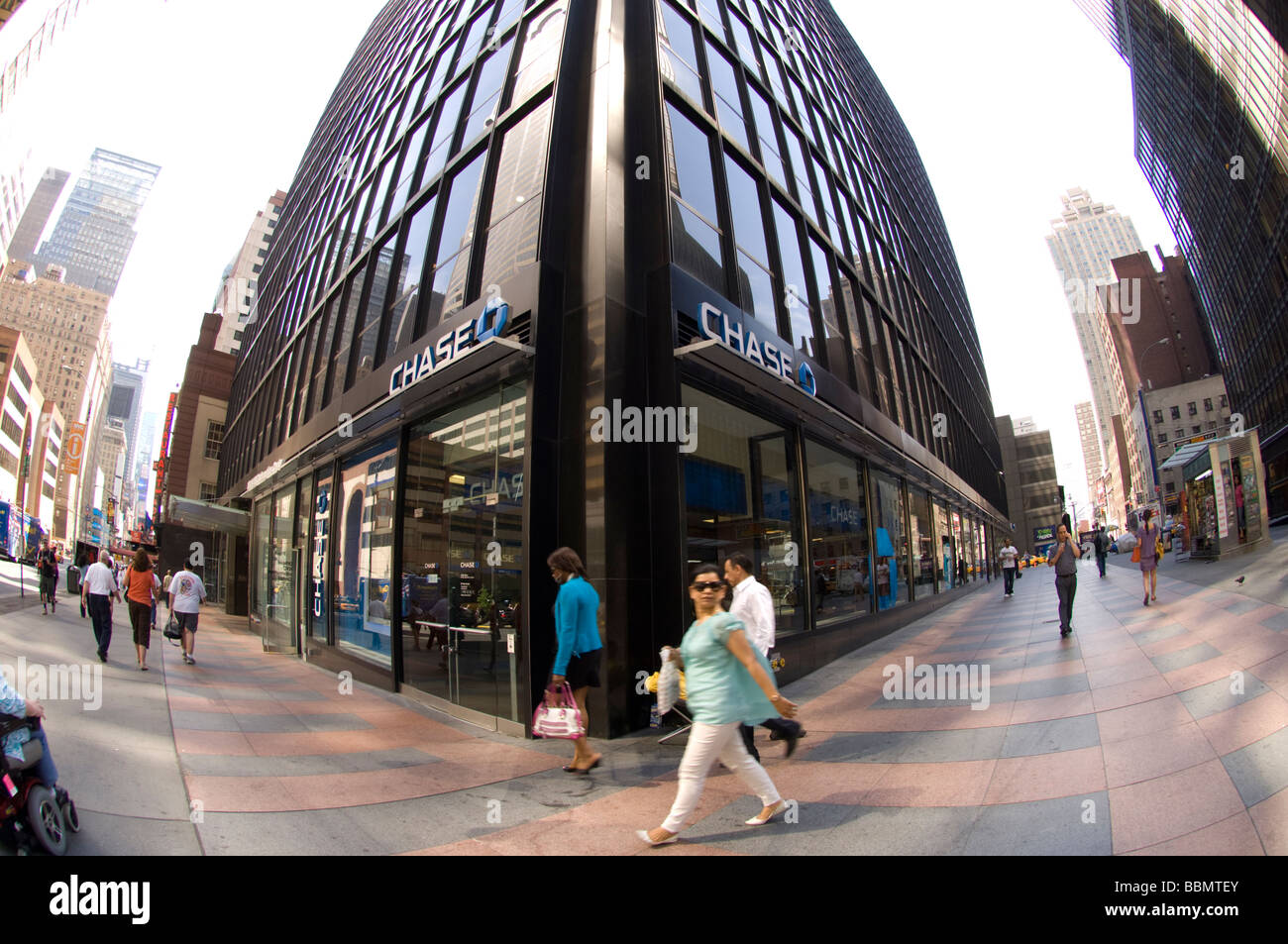 A JP Morgan Chase bank branch in midtown in New York on Friday May 22 2009 Frances M Roberts - Stock Image