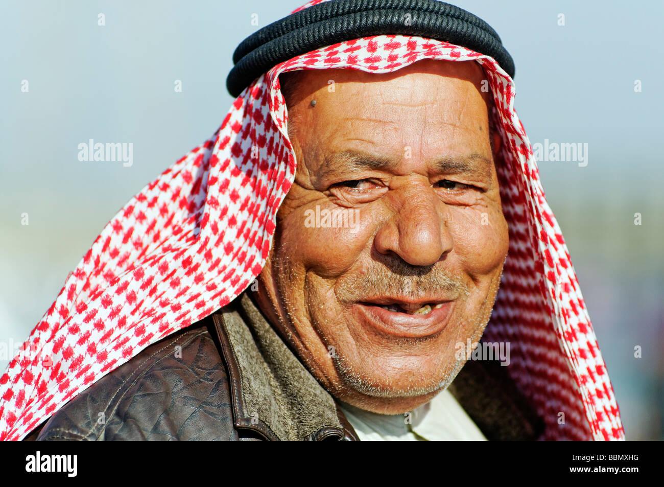 Portrait man, Kafseh, Syria, Asia - Stock Image