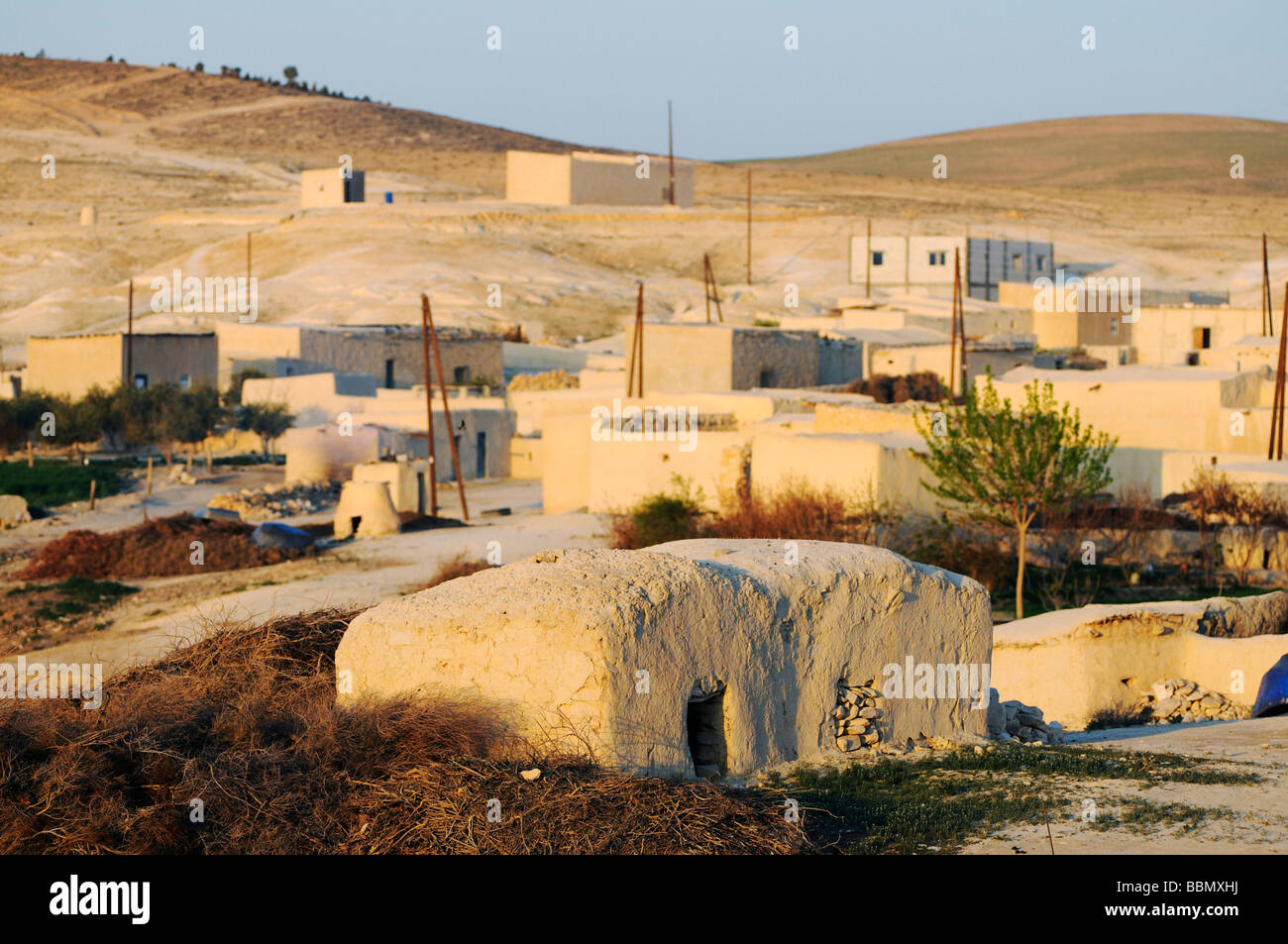 Fishing village on the Asad reservoir of the Euphrates, Syria, Asia - Stock Image