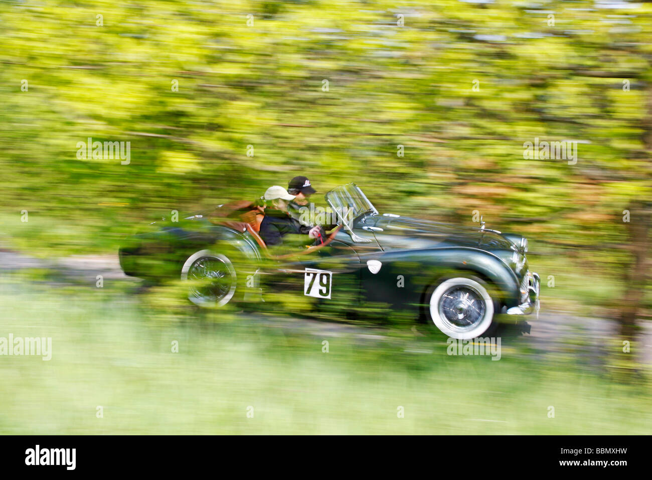 Triumph TR 3A, built in 1959, vintage car motor rally Wiesbaden 2009, Hesse, Germany, Europe Stock Photo