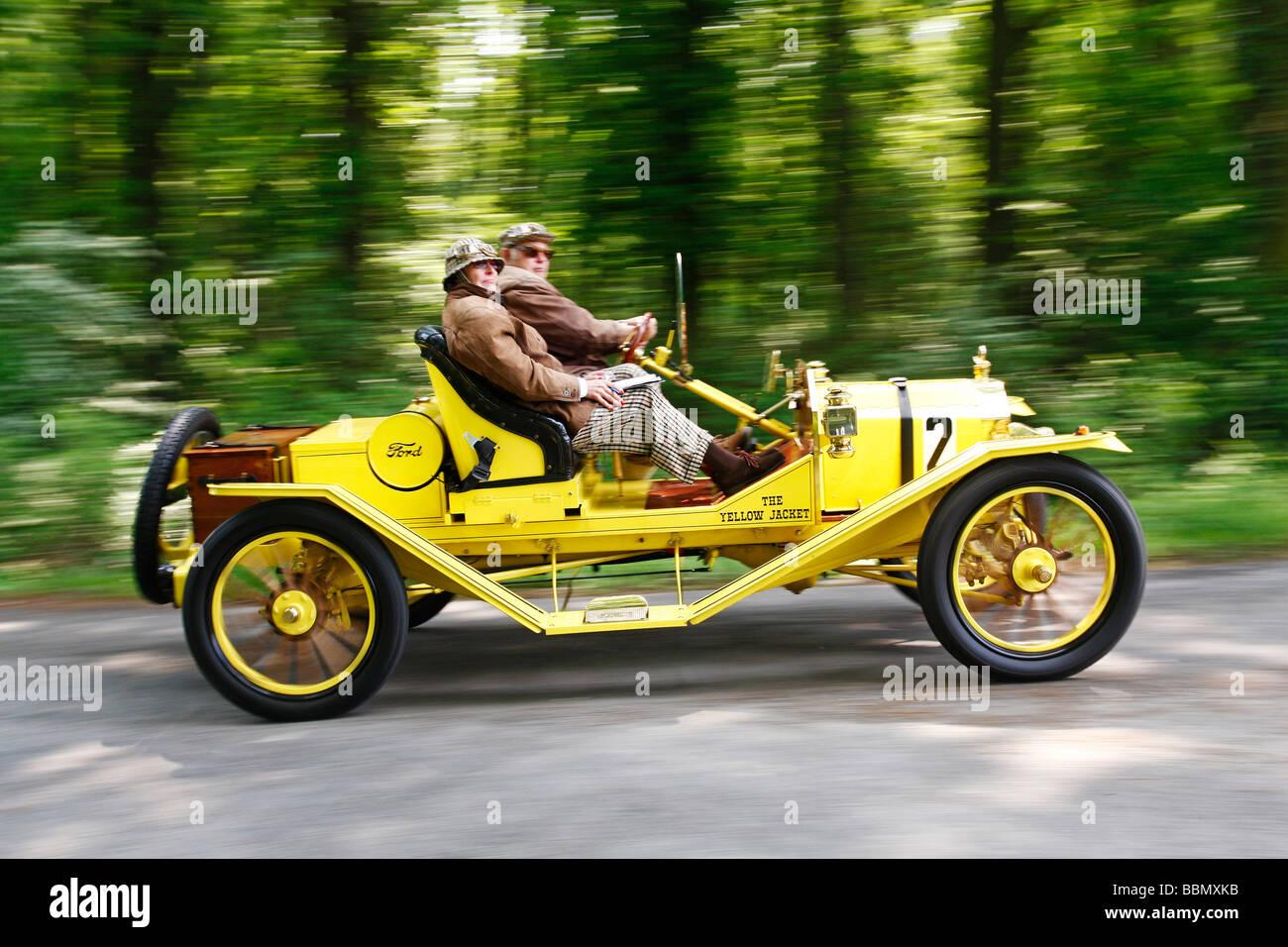 Ford Model T Speedster, built in 1912, vintage car motor rally Wiesbaden 2009, Hesse, Germany, Europe Stock Photo
