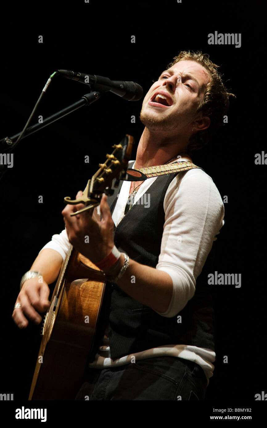 James Morrison in Concert at Magna Centre, Sheffield - Stock Image