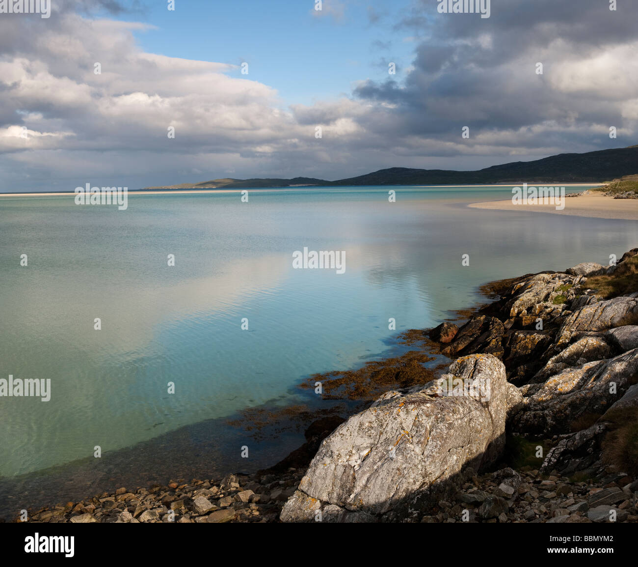 Clouds over Luskentyre beach, Isle of Harris, Outer Hebrides, Scotland - Stock Image