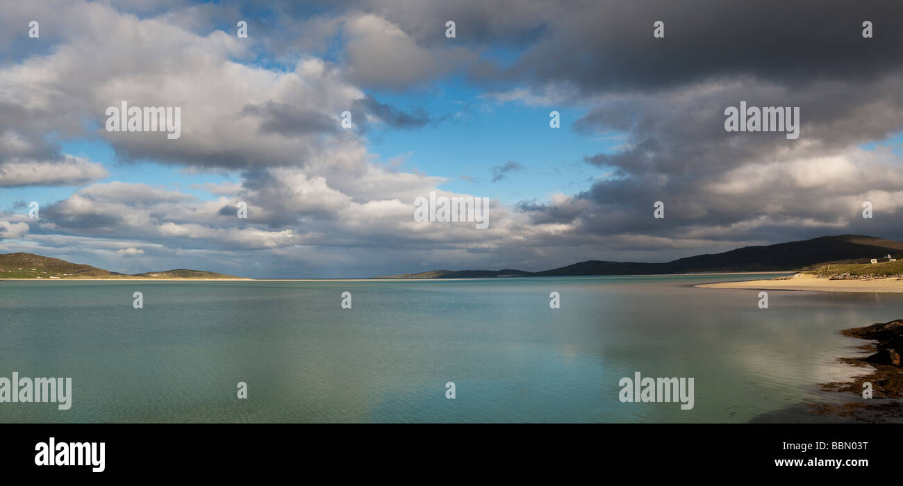 Clouds over Luskentyre beach, Isle of Harris, Outer Hebrides, Scotland Stock Photo