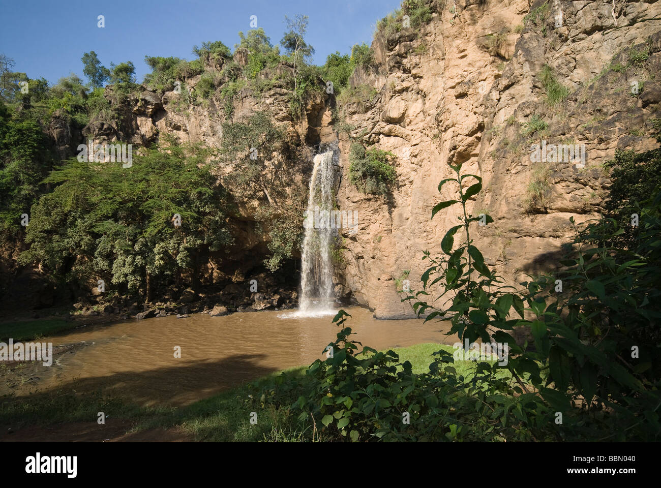 Makalia waterfall NAKURU NATIONAL PARK KENYA EAST Africa - Stock Image
