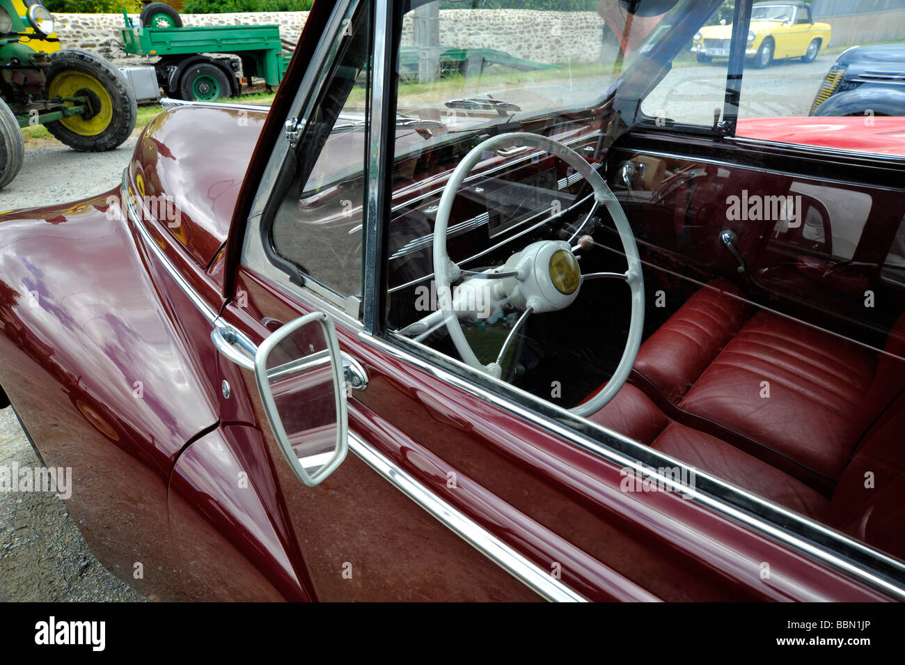 Old Classic French Peugeot 203 Convertible Two Door Automobile Car ...