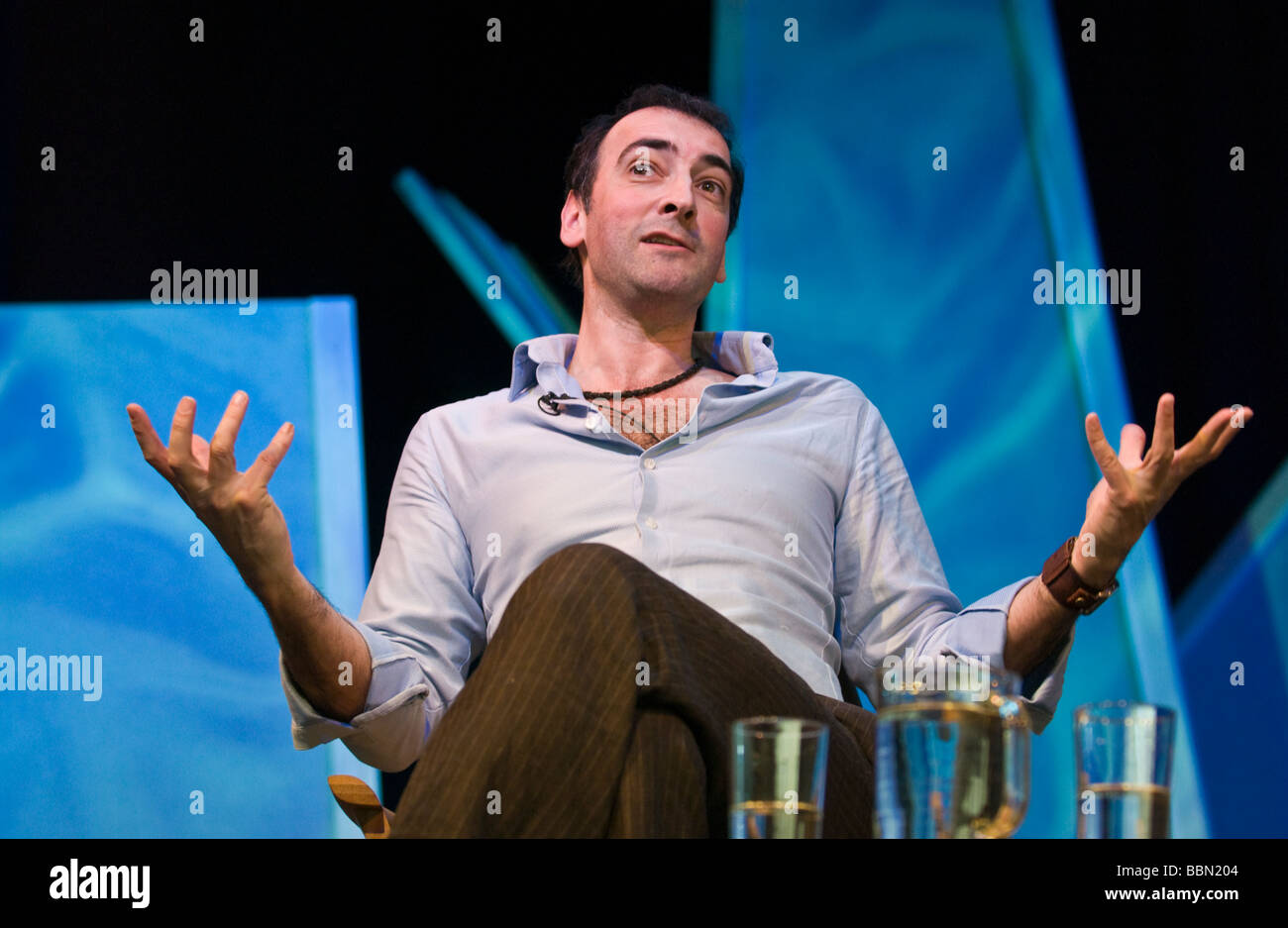 Alistair MacGowan English impressionist comedian and actor pictured at Hay Festival 2009  - Stock Image