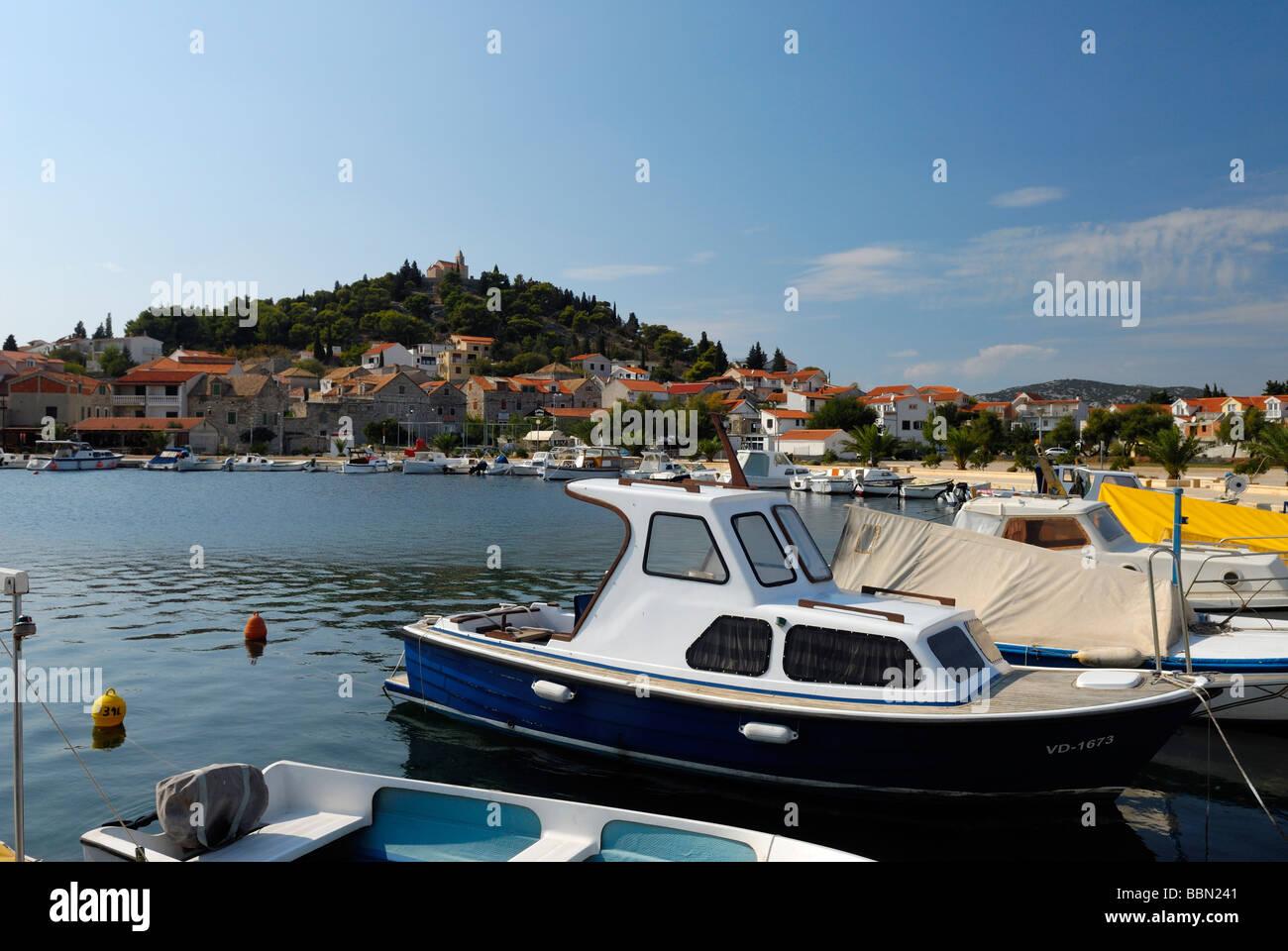 Picturesque town of Tribunj on Dalmatian Coast of Croatia - Stock Image