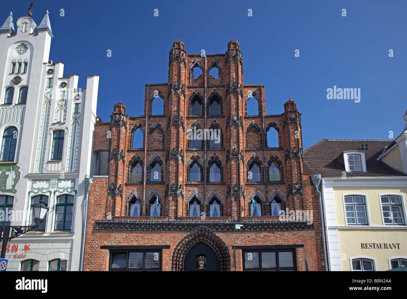 Alter Schwede, old Swede house, Wismar, Mecklenburg-Western Pomerania, Germany, Europe - Stock Image
