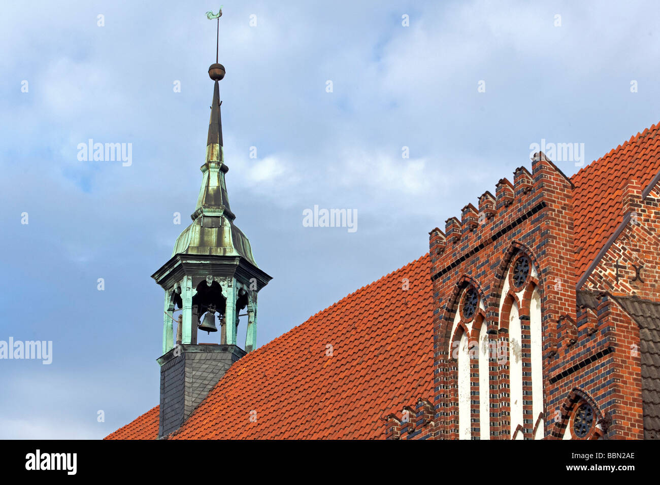 Heiligen-Geist-Kirche, Holy Spirit Church, Wismar, Mecklenburg-Western Pomerania, Germany, Europe - Stock Image