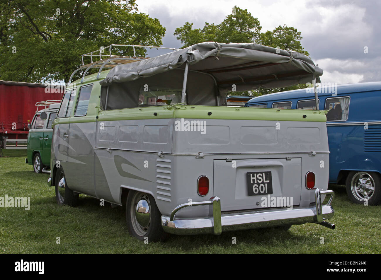 Grey Pick Up Style Vw Camper Van Stock Photo Alamy