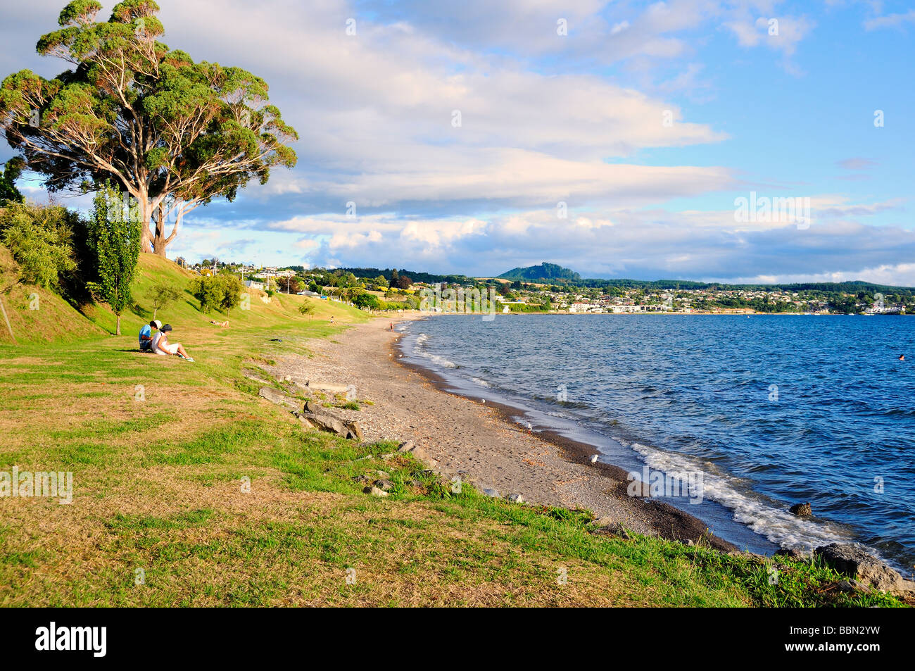 Lake Taupo North Island New Zealand - Stock Image