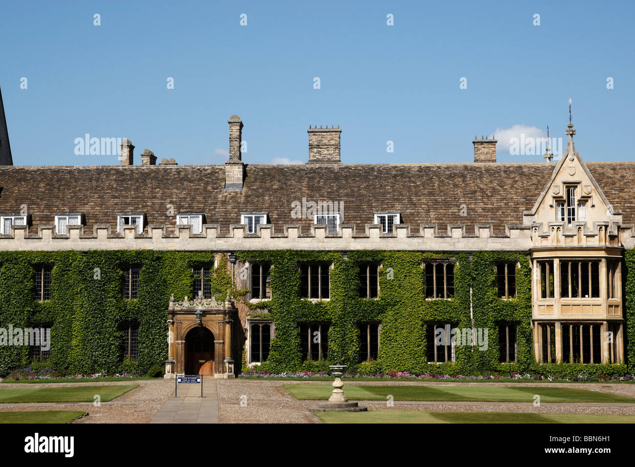 facade of trinity college masters lodge founded in 1546 trinity street cambridge uk - Stock Image