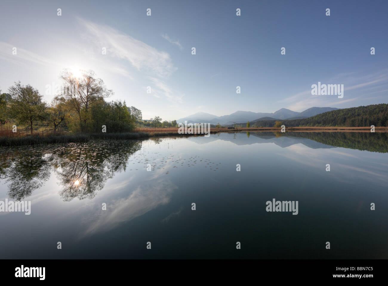 Turnersee lake, Carinthia, Austria, Europe Stock Photo