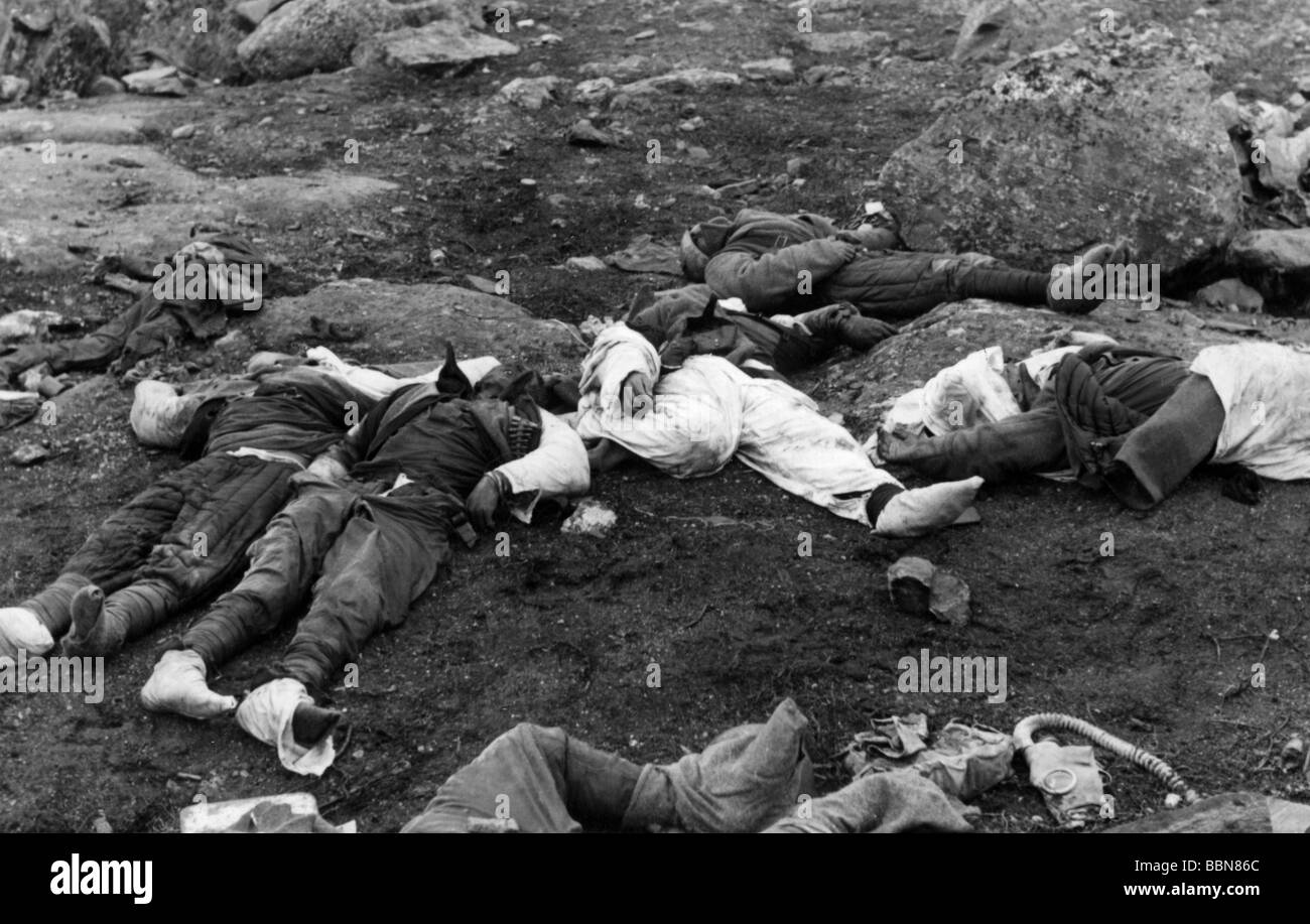 events, Second World War / WWII, Russia, fallen soldiers / dead bodies, fallen Soviet soldiers, circa 1942, Additional - Stock Image