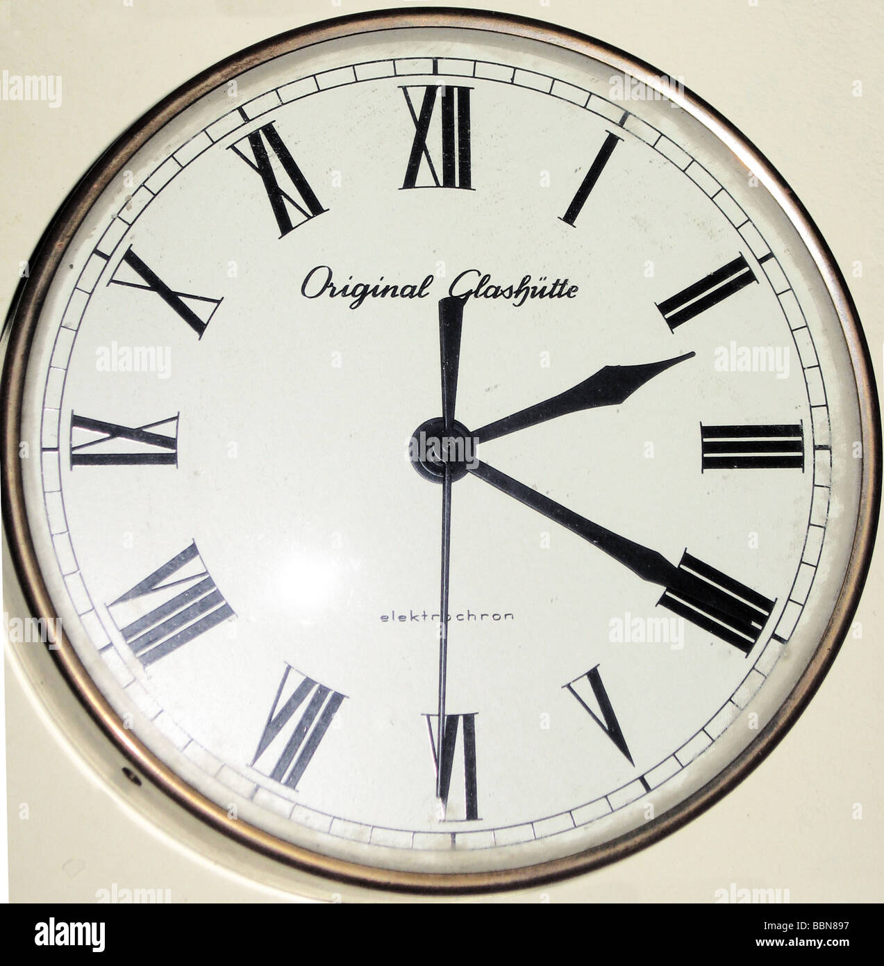 Electric Wall Clock Glashtte Elektrochron Stock Photos Electric