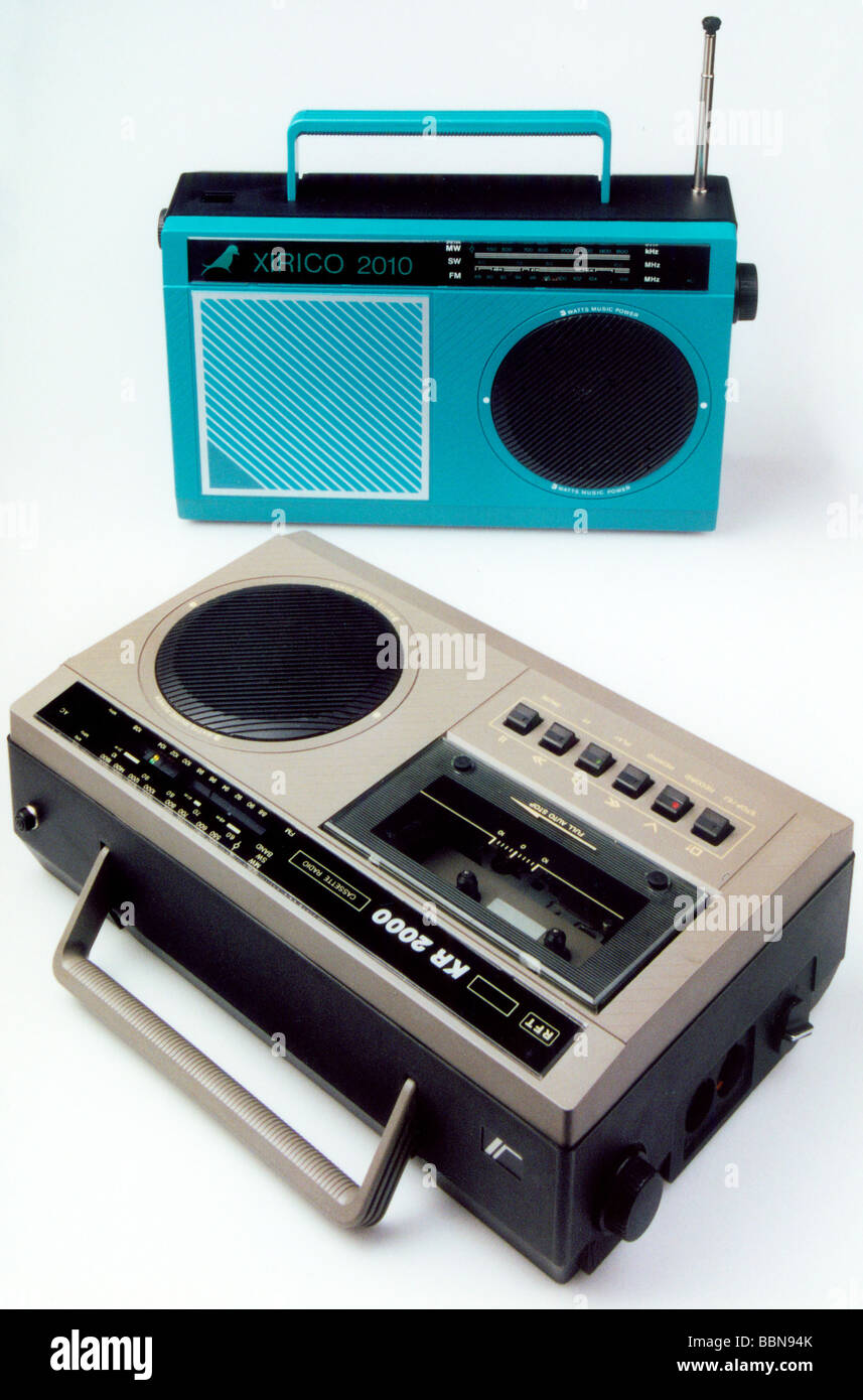 broadcast, radio, radio sets, cassette recorder Steracord KR 2000, made by VEB Stern-Radio Berlin, GDR, 1987, historic, - Stock Image