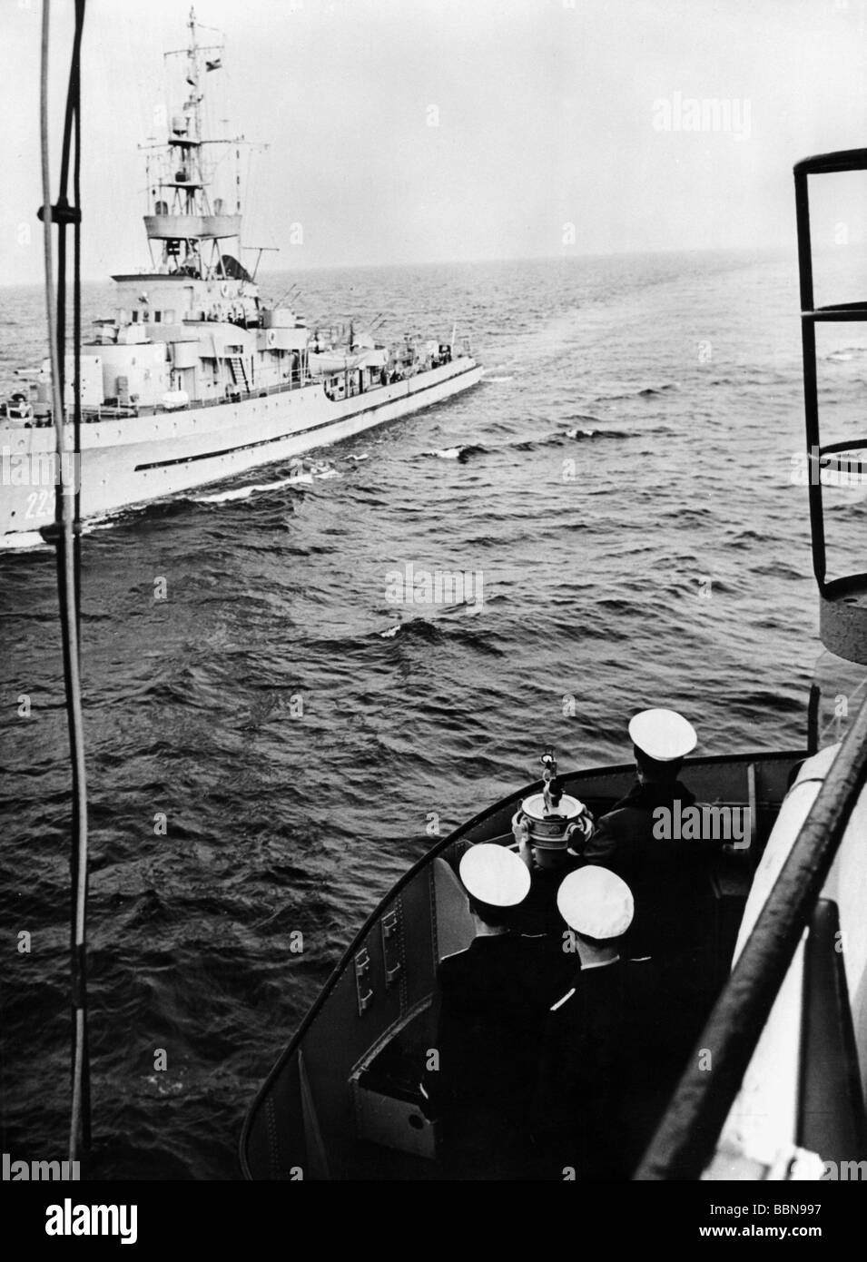 military, East Germany, National People's Navy, mneswaepers during excercise in the Baltic Sea, 1966, Additional - Stock Image