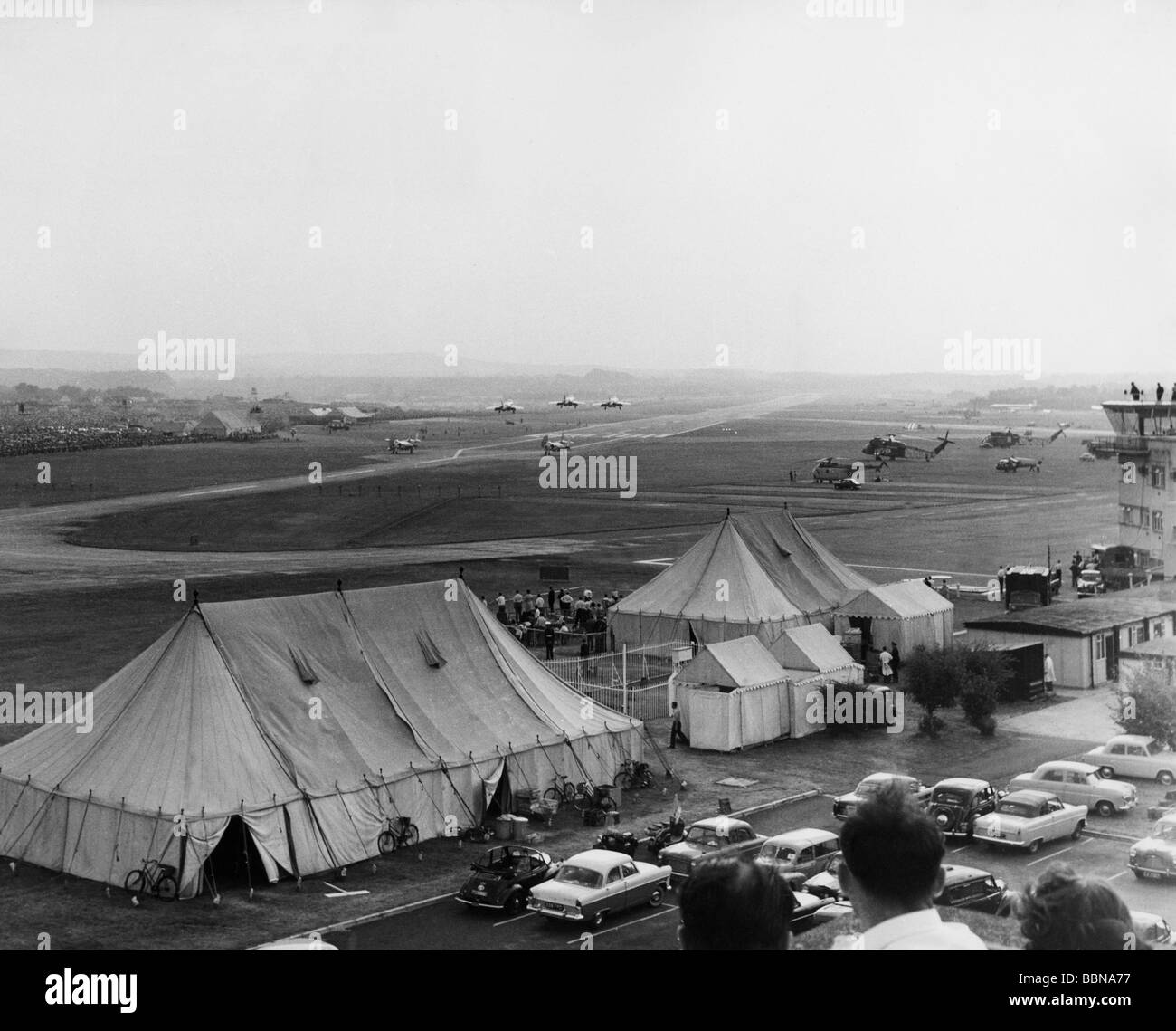 transport / transportation, aviation, aircraft show, SBAX show, Farnborough, Hants, England, Great Britain, 1960s, - Stock Image