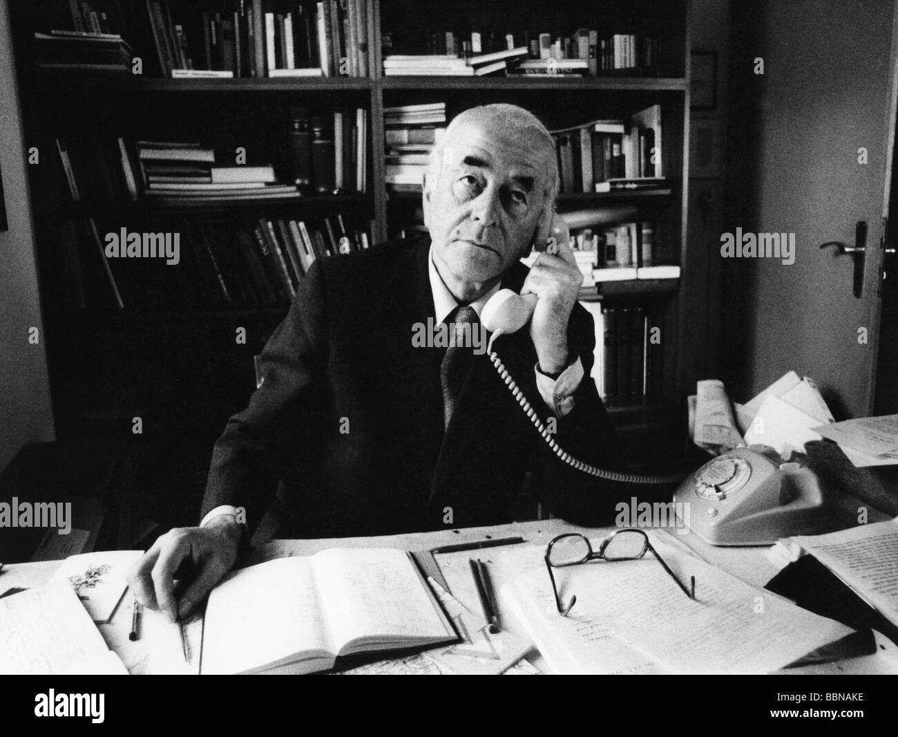 Speer, Albert, 19.3.1905 - 1.9.1981, German architect, politician (NSDAP), Minister of Armaments and War Production - Stock Image