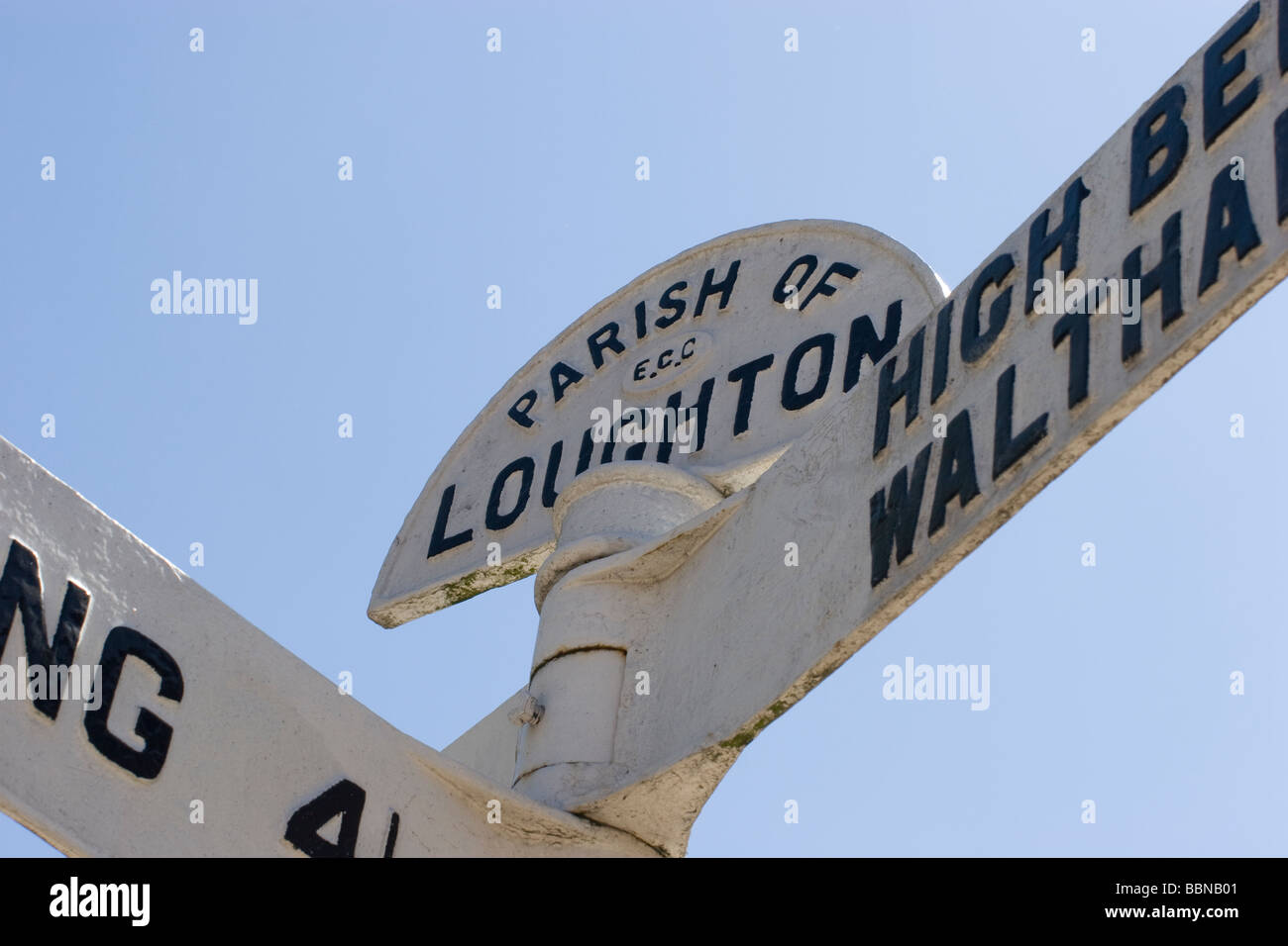 loughton essex  signpost - Stock Image