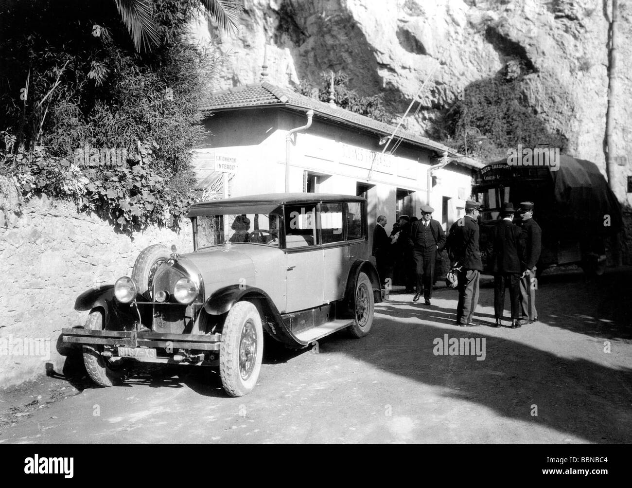 border, French-Italian border, station of the French customs in Menton, circa 1930, Additional-Rights-Clearances Stock Photo