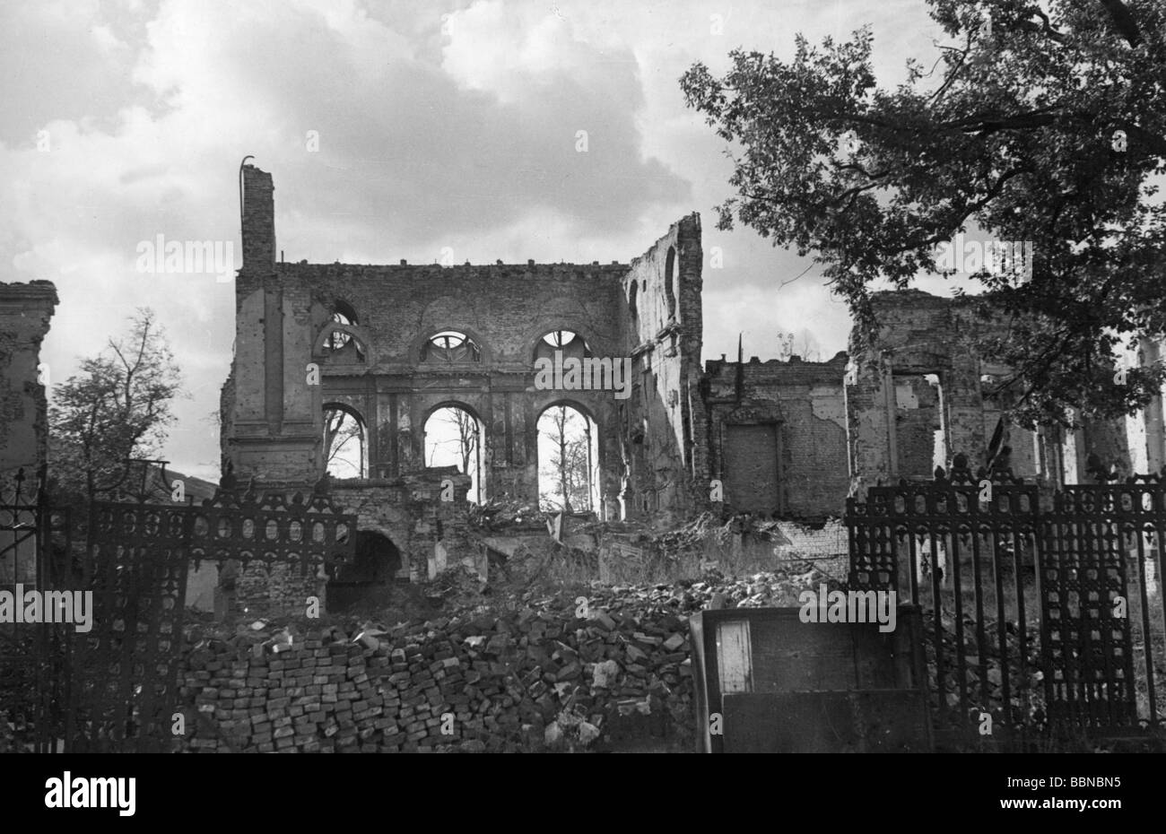 events, post war era, destroyed cities, Berlin, palais of the Reich Chancellor, 77 Wilhelmstrasse, 1948, Additional - Stock Image