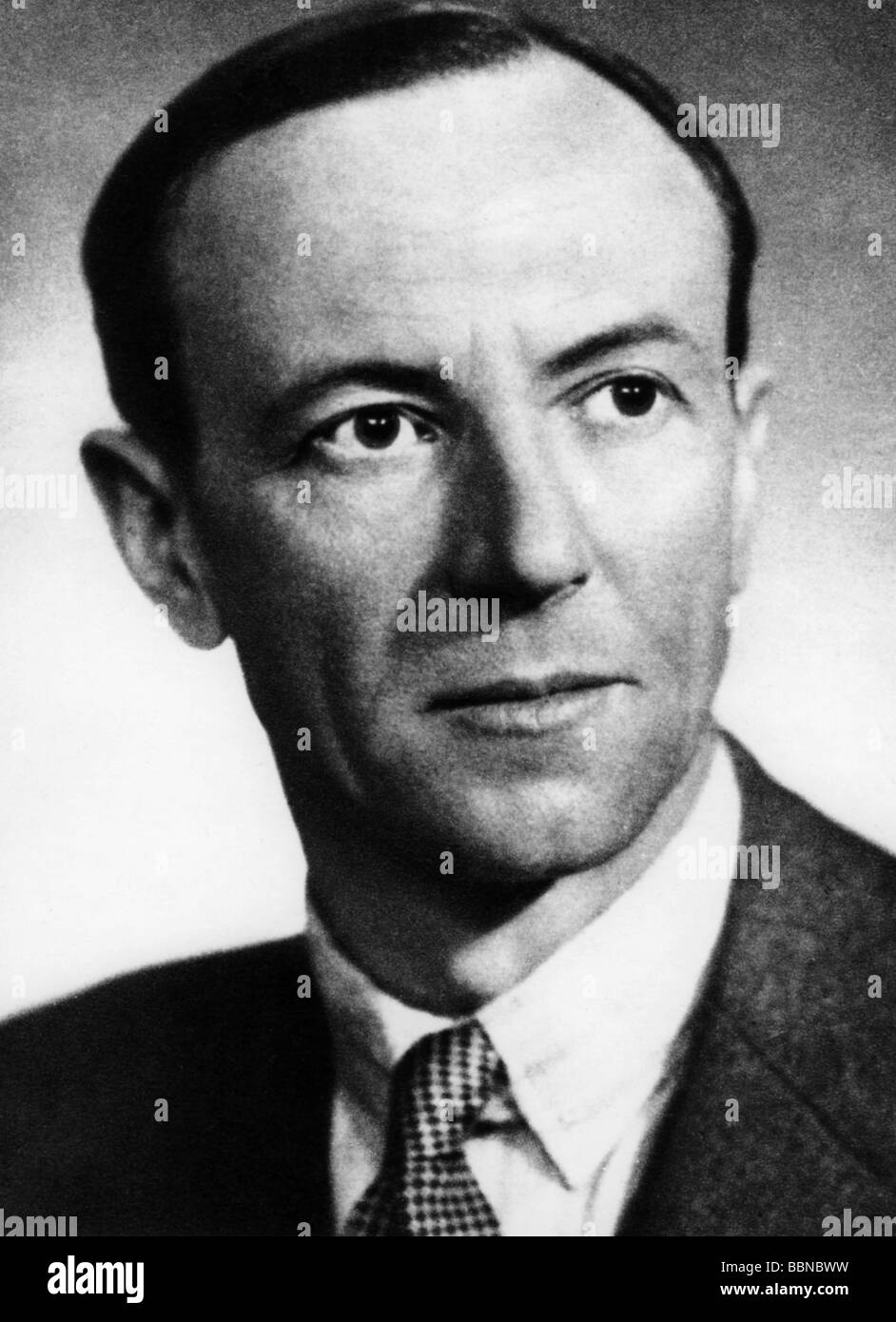 Chadwick, James, 20.10.1891 - 24.7.1974, British physicist, portrait, , Additional-Rights-Clearances-NA - Stock Image