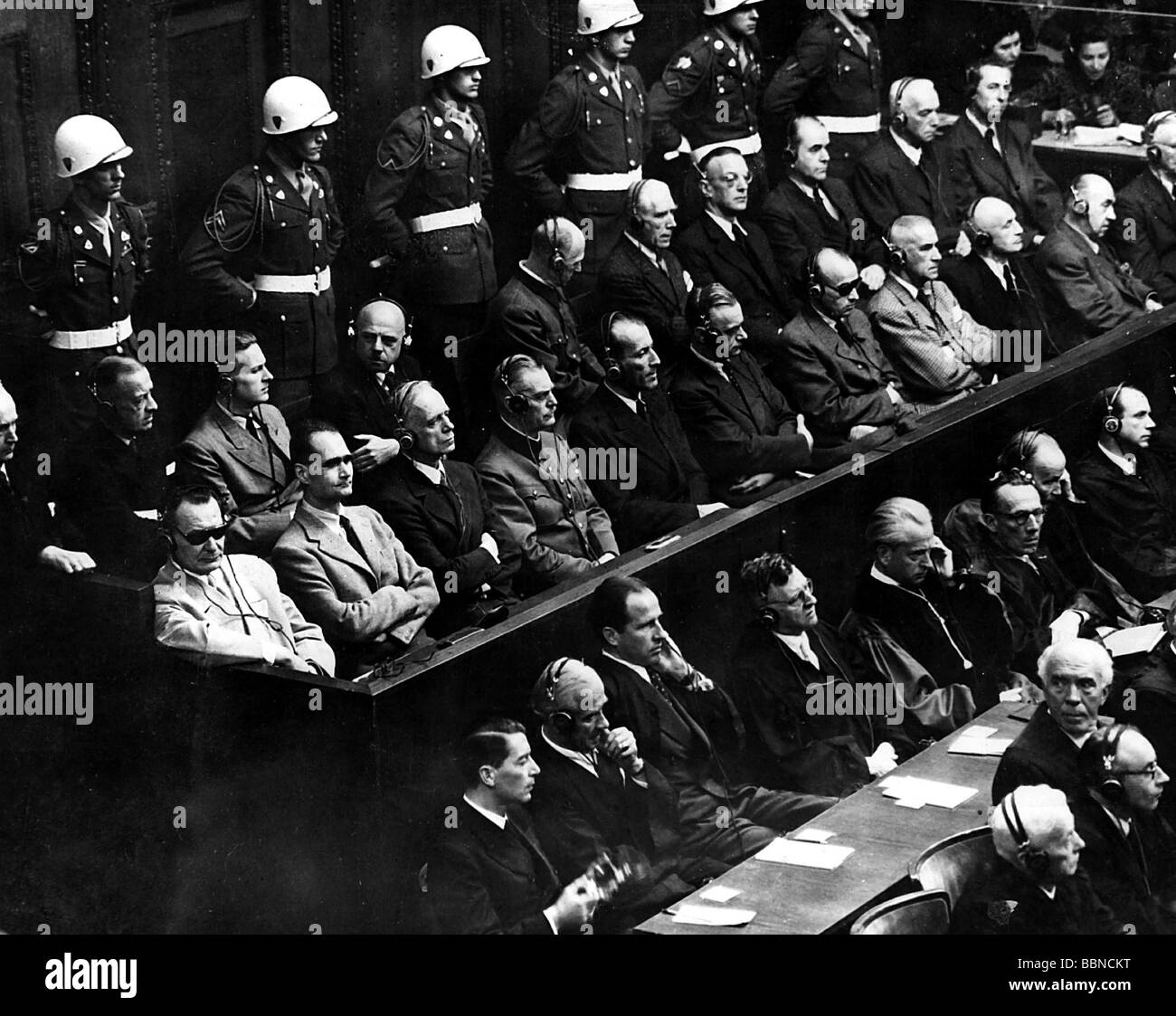 account of the nuremberg trial On 1 october 1946, the international military tribunal at nuremberg delivered its verdicts, after 216 court sessions of the original twenty-four defendants, twelve (including martin bormann, tried in absentia) were sentenced to death by hanging.