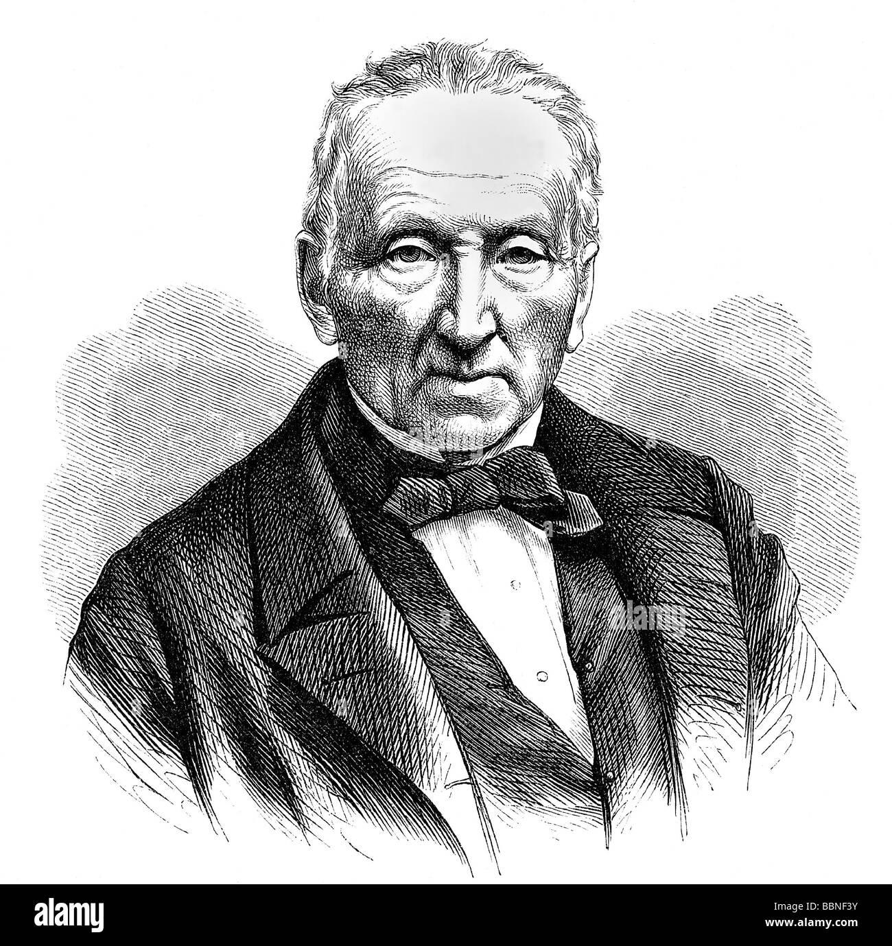 Waldmueller, Ferdinand Georg, 15.1.1793 - 23.8.1865, German painter, professor at the Vienna Academy, portrait, - Stock Image