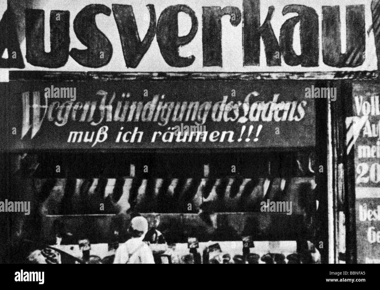 events, Great Depression 1929 - 1933, shop selling out because of termination of the rental agreement, Germany, - Stock Image